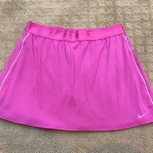 Nike pink tennis skirt L tall